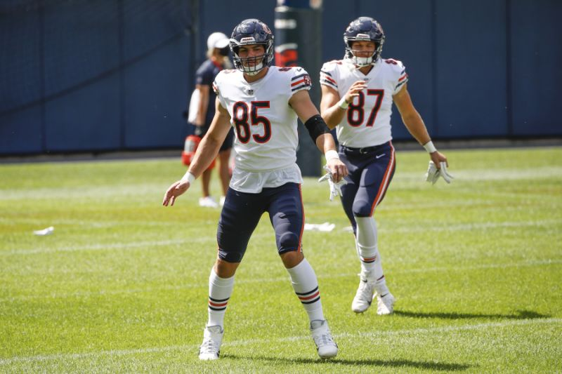 Matt Nagy says rookie TE Cole Kmet's role will increase…in time
