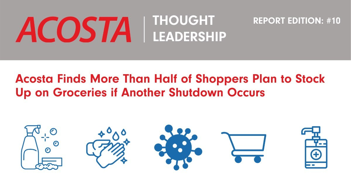 Acosta Finds More Than Half of Shoppers Plan to Stock Up on Groceries if Another Shutdown Occurs