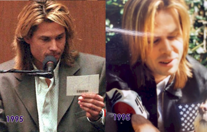 Kato Kaelin on the left and Kelly Cash on the right in 1995