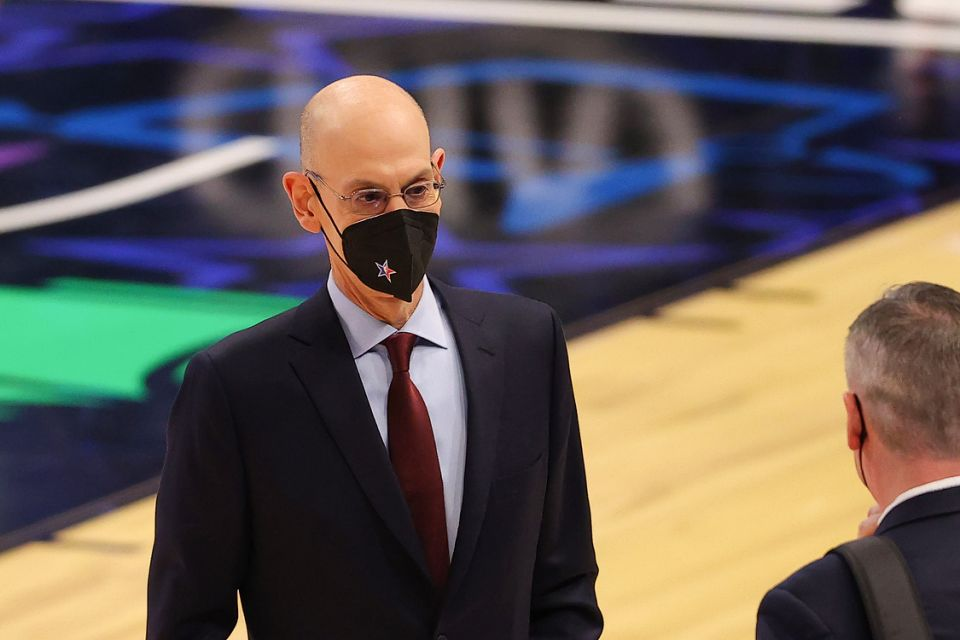 Adam Silver Commissioner of the NBA looks on during the second half in the 70th NBA All-Star Game at State Farm Arena on March 07, 2021 in Atlanta, Georgia. (Photo by Kevin C. Cox/Getty Images)