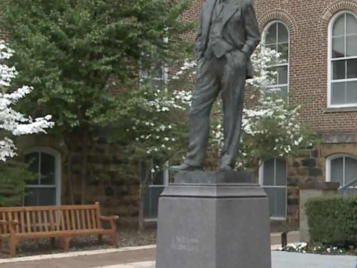 UA committee recommends removal of Fulbright statue and name at University of Arkansas