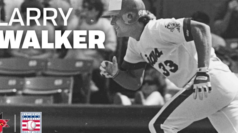 Former Tribe Outfielder Larry Walker Elected into National Baseball Hall of Fame