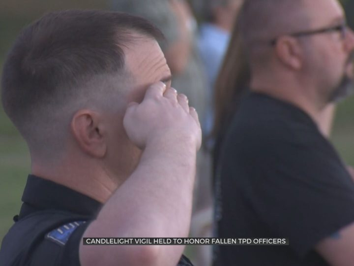 Candlelight Vigil Held To Honor Fallen Tulsa Police Officers