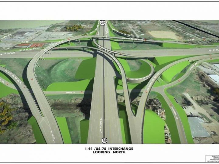 ODOT releases new rendering of finished Highway 75-I-44 interchange in west Tulsa  FOX23 News