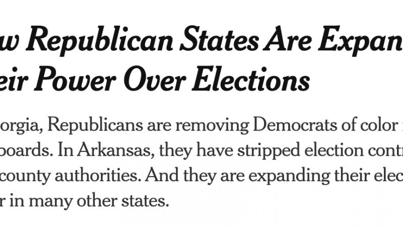 Arkansas at the forefront of the Republican attack on local control and democracy