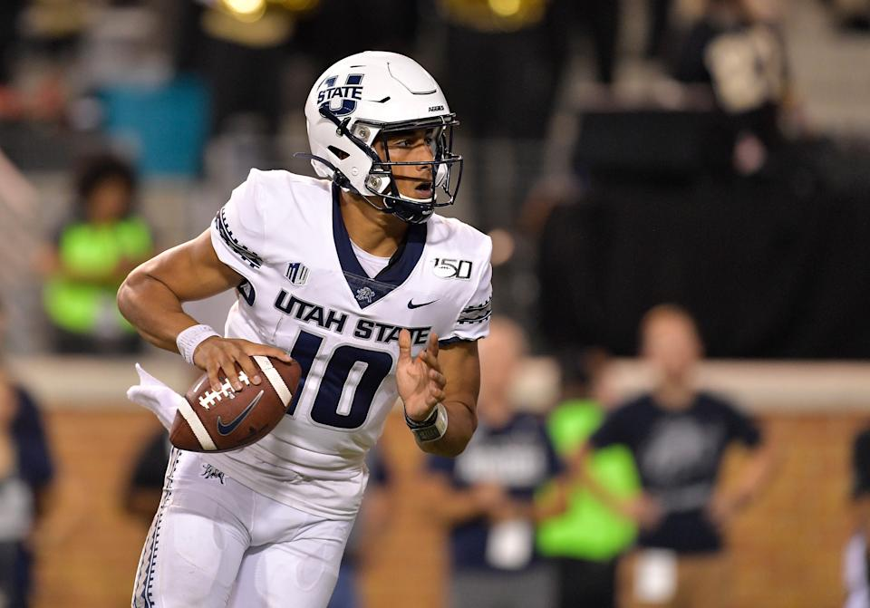 Jordan Love made some incredible plays during his Utah State career. (Photo by Grant Halverson/Getty Images)