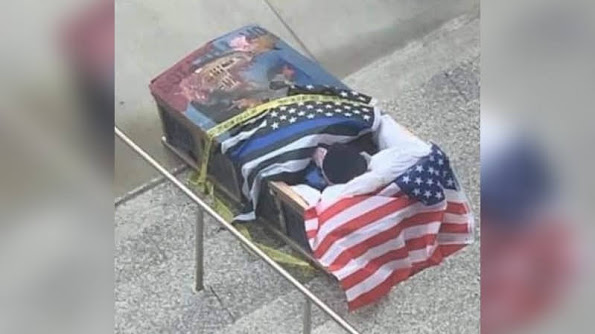 Kansas City BLM Dumps Pig In Coffin At KCPD HQ!!! Local News Silent!!!
