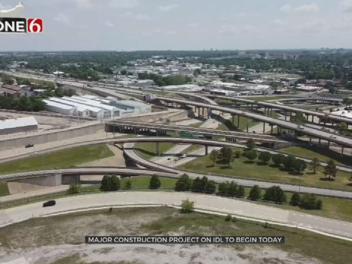 Major Construction Project Begins On The IDL In Downtown Tulsa
