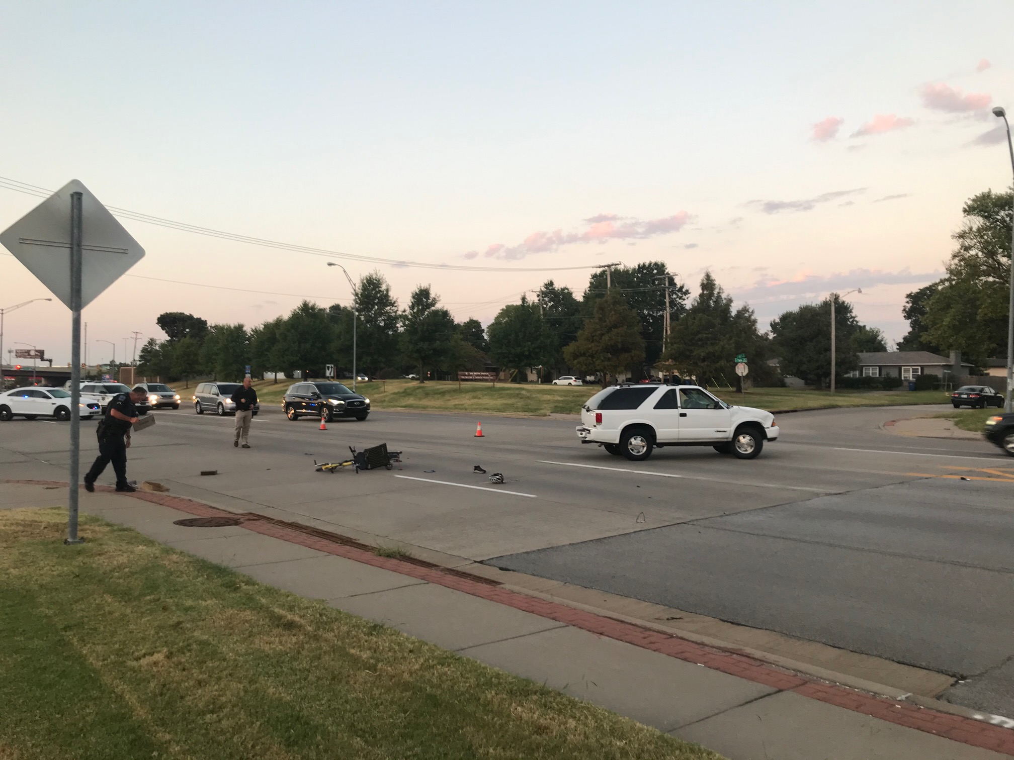 Bicyclist in critical condition following crash on S. Yale in Tulsa  FOX23 News