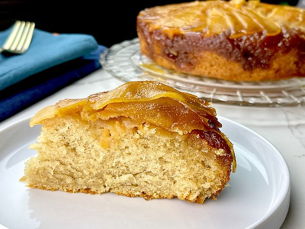 OPINION | FRONT BURNER: Underrated pears pop in Upside Down Pear Cake