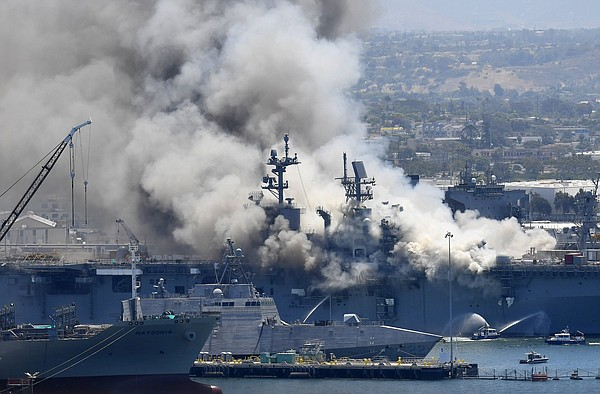 Navy details failures in ship fire