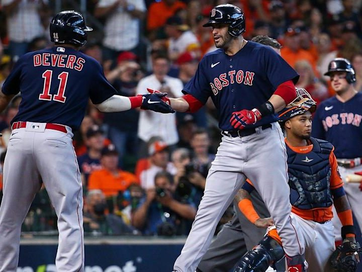Red Sox' two grand slams lead 9-5 ALCS win over Astros