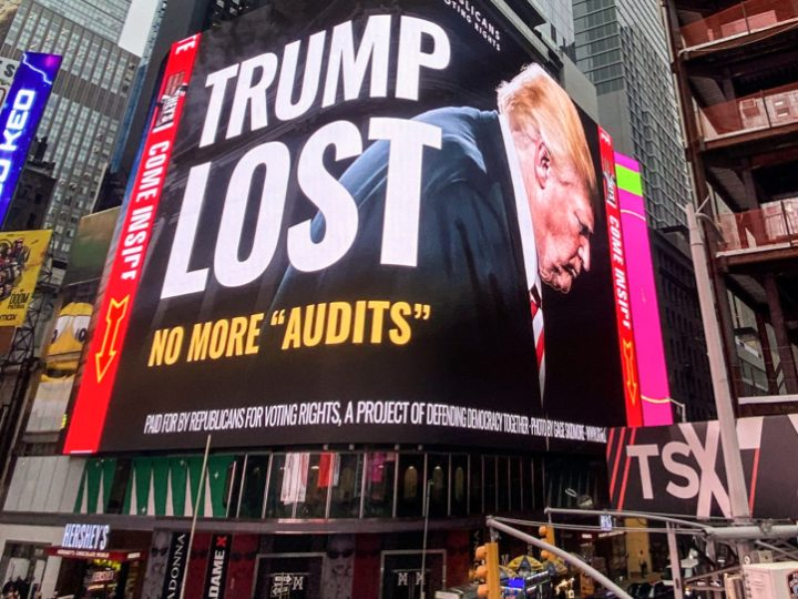 'Trump lost': Republican-led group launches billboard campaign calling for end to election audits