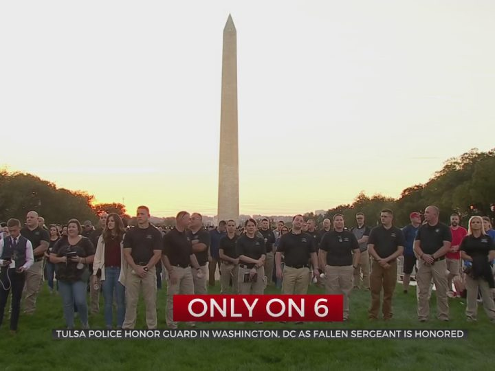 Tulsa Police Honor Guard Travel To DC To Help Honor Fallen Tulsa Sergeant